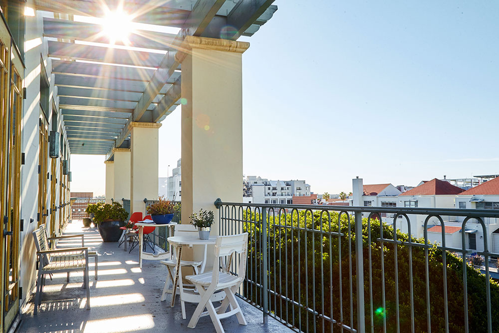 balcony exterior commercial photography