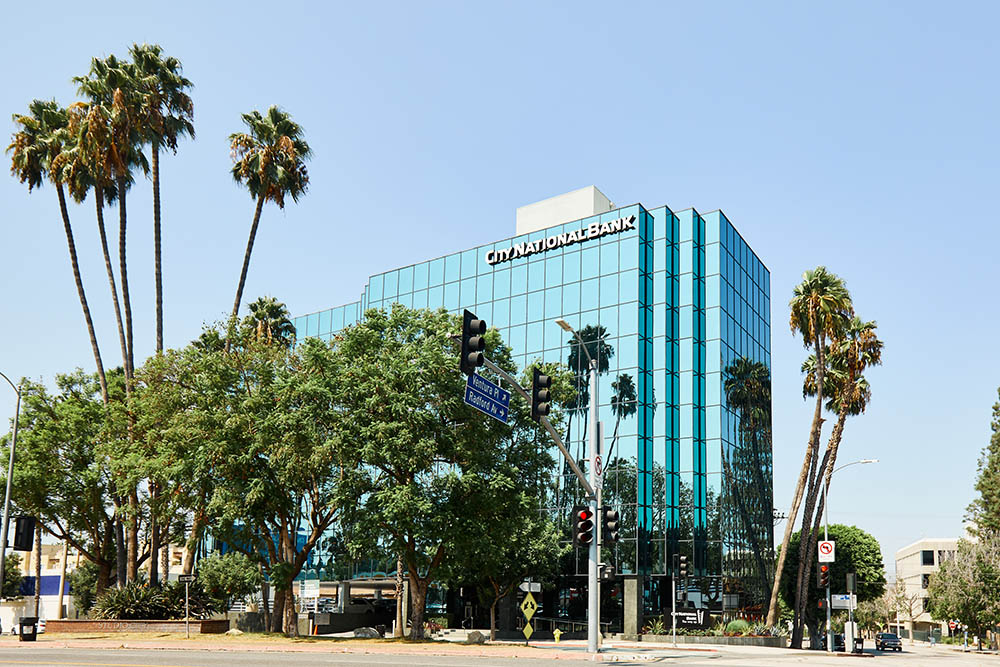 california glass building for corporate photography